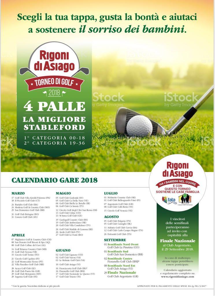 Acaya Golf Club Calendario Gare.Torneo Rigoni 4 Palle La Migliore Sabato 17 Marzo 2018